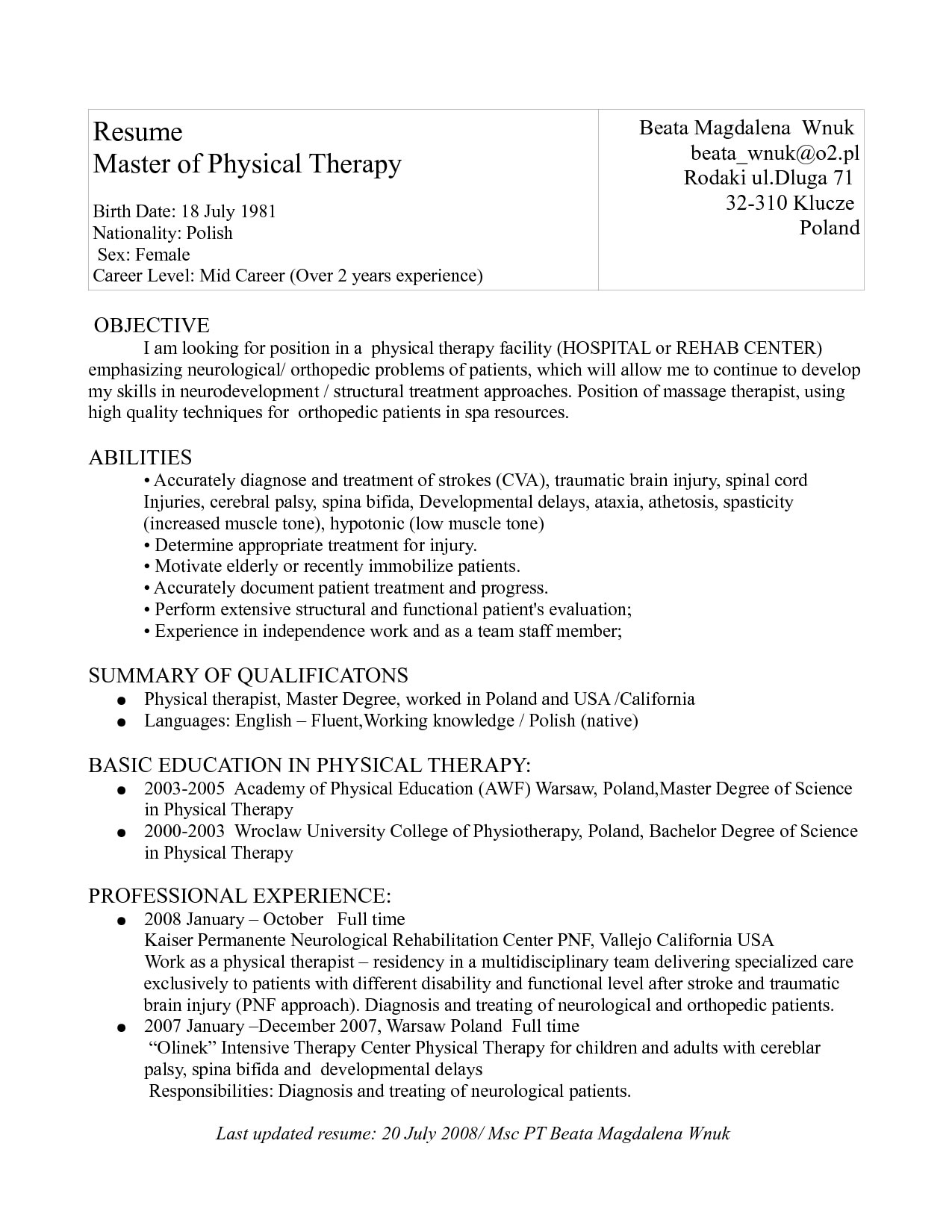 physical therapy application essay examples sample personal  essay about physical therapy physical therapy application essay examples how to write your essay about physical